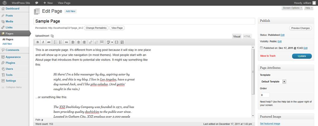 wordpress-edit-page